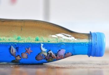 Handicrafts made from plastic bottles